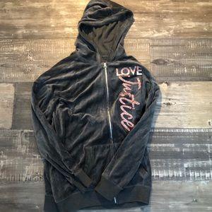 Velvet justice zip up jacket